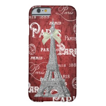 Eiffel Tower Red Damask iPhone 6 case