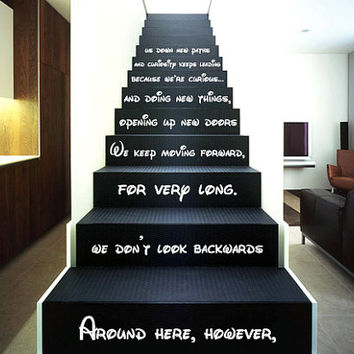 Wall Decal Vinyl Sticker Decals Art Decor Design Sign Disney Custom Quote  Stairs Around Here Family Part 35
