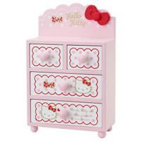 Hello Kitty Mini Small Size Chest of Drawers Ribbon SANRIO JAPAN