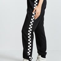 Checkered Drawstring Joggers