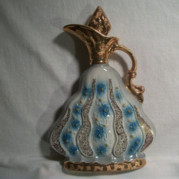 Genuine Regal China Handcrafted 1970 Ornate Gold Trimmed  Jim Beam Whiskey Decanter from TKSPRINGTHINGS Antiques and Collectables Collection