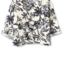 Orchid Cropped Chiffon Top - OASAP.com