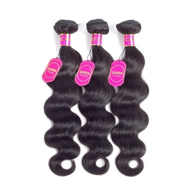 Natural Black Wavy Human Hair Extension