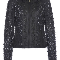 Floral Cutout Leather Jacket | Moda Operandi