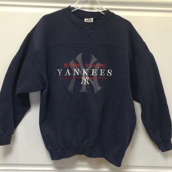 Vintage New York Yankees / MLB / Sweatshirt / Pullover / Blue / Large