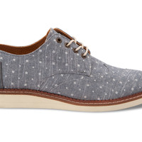 Blue Dots Chambray Men's Brogues