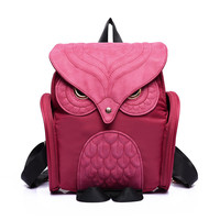 2016 New Fashion Bag Lovely Women Backpack OWL Backpacks Ladies School Nylon Backpack Mujer Mochila Escolar Feminina