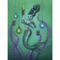 P'gosh Frankenstein's Mermaid Print