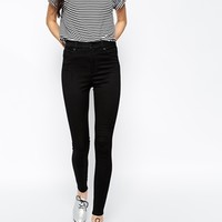 Monki Oki High Waist Jean In Black