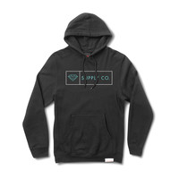 Boxed In Pullover Hood in Black