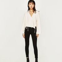 HIGH ELASTICITY LOW-RISE CROPPED JEGGINGSDETAILS