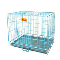 dog cage pet cage wire cage cat cage folded cage different size   50cm   Blue