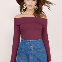 You And Me Off Shoulder Top $44