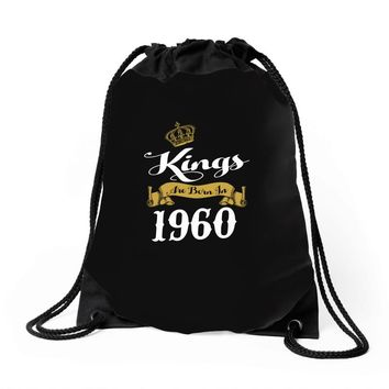 kings are born in 1960 Drawstring Bags