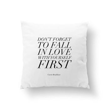 Don't forget Pillow, Typography Pillow, Gold Pillow, Home Decor, Cushion Cover, Throw Pillow, Bedroom Decor, Bed Pillow, Decorative Pillow