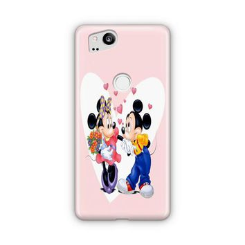 Mickey Mouse And Minnie Mouse Disney Kissing On Galaxy Nebula Google Pixel 3 XL Case | Casefantasy
