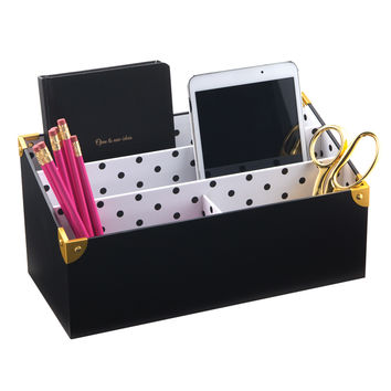See Jane Work® Black Desktop Organizer