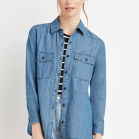 Classic Denim Shirt - Tops - Blouses & Shirts - 2000158088 - Forever 21 UK