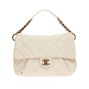 Chanel Coco Pleats Messenger Quilted Calfskin