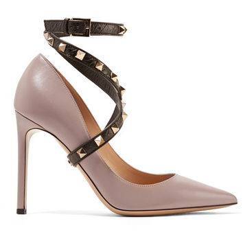 Valentino - Studwrap leather pumps