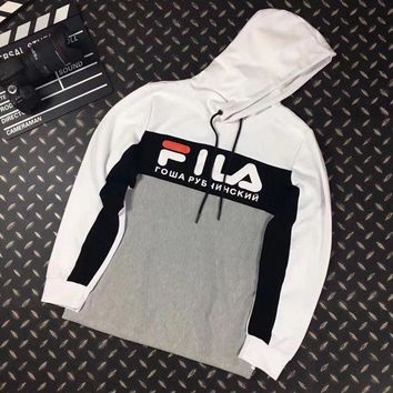 LMFUX5 FILA Woman Men Casual Fashion Hoodie Top Sweater Pullover