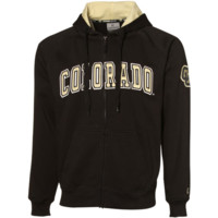 Colorado Buffaloes Black Automatic Full Zip Hoodie Sweatshirt
