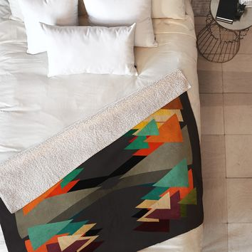 Viviana Gonzalez Textures Abstract 16 Fleece Throw Blanket