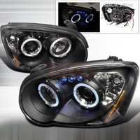 Subaru 04-05 Subaru Impreza - Black Projector Head Lights/ Lamps