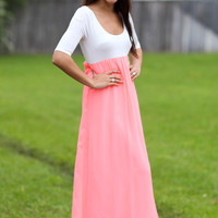 Stroll in the Park Maxi - Neon Coral