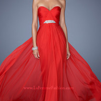 Long Strapless Sweetheart Evening Dress