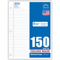 Walmart: Norcom College Ruled Filler Paper, 150pk