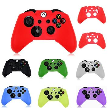 Silicone Rubber Skin Case Gel Protective Cover For Xbox One Wireless Controller Feb 1