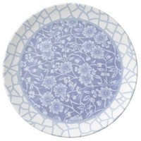 blue crackle and flower china pattern