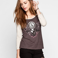 Full Tilt Eagle Eye Womens Baseball Tee Multi  In Sizes