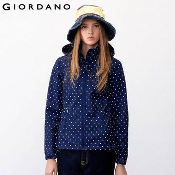 DCCKHN1 Giordano Women Sport Jacket Detachable Hood Sports Wear for Woman Fleece-Lined Jacket Abrigo Mujer Woman Jacket Manteau Femme