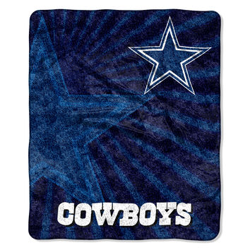 Dallas Cowboys Blanket 50x60 Sherpa Strobe Design
