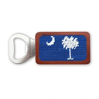 SC Flag Needlepoint Bottle Opener in Blueberry by Smathers & Branson