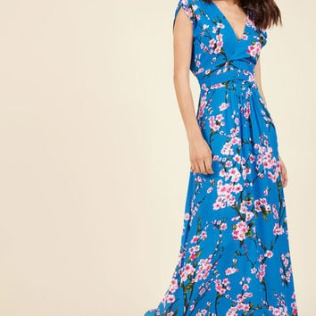 Feeling Serene Maxi Dress in Cherry Blossoms