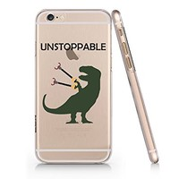 Funny Dinosaur Unstoppable Clear Transparent Plastic Phone Case for iphone 6 6s _ SUPERTRAMPshop (iphone 6)