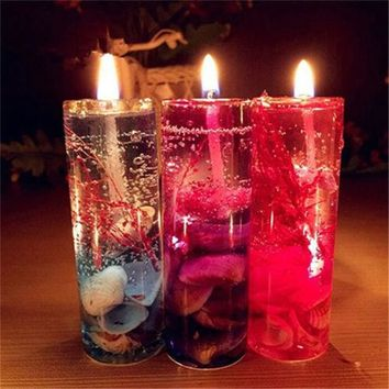 Aromatherapy Smokeless Candles Ocean Shells Valentines Scented Jelly Candle Hot