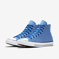The Converse Chuck Taylor All Star Washed Chambray High Top Unisex Shoe.