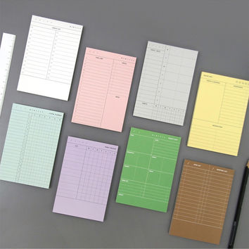 Second mansion planning memo notepad - Weekly, Diet, Checklist