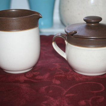 Denby Cream and Sugar Bowls