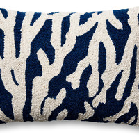 Sea Reef 14x20 Wool Pillow, Navy
