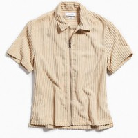 UO Corduroy Short Sleeve Zip Shirt | Urban Outfitters