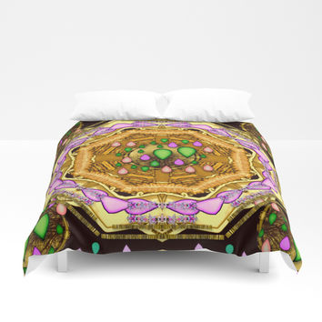 Raining love peace over the creation of life Duvet Cover by Pepita Selles