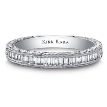 "Kirk Kara ""Stella"" Baguette Cut Diamond Wedding Band"