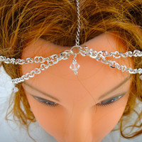 Head Jewelry Chain with Interchangeable by IndependentAccents