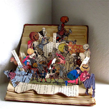 Altered Book pop up style Land of OZ 1904 Recycled antique Book