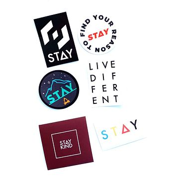 STAY STICKER PACK (6 STICKERS)